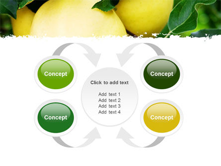 Yellow Apple PowerPoint Template Slide 6