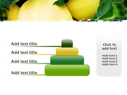 Yellow Apple PowerPoint Template Slide 8