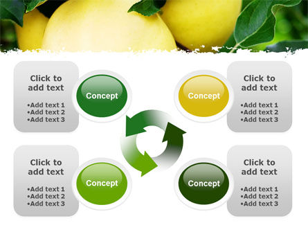 Yellow Apple PowerPoint Template Slide 9