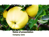 Agriculture: Yellow Apple PowerPoint Template #05062