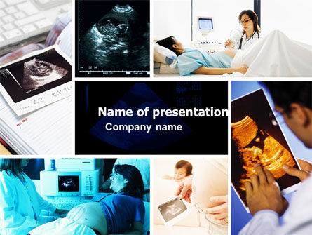 Ultrasound Collage PowerPoint Template, 05063, Medical — PoweredTemplate.com