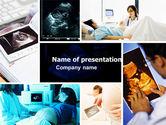 Medical: Modelo do PowerPoint - colagem de ultra-som #05063