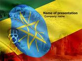 Flags/International: Modello PowerPoint - Etiopia #05064