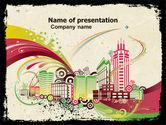 Construction: Urban Design PowerPoint Template #05067