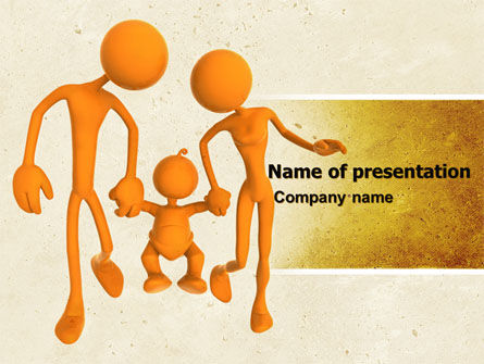 Support Of Parents PowerPoint Template, 05068, Education & Training — PoweredTemplate.com