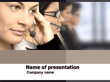 Call Center PowerPoint Template, 05070, Careers/Industry — PoweredTemplate.com