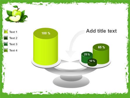 Cut Green Apple PowerPoint Template Slide 10
