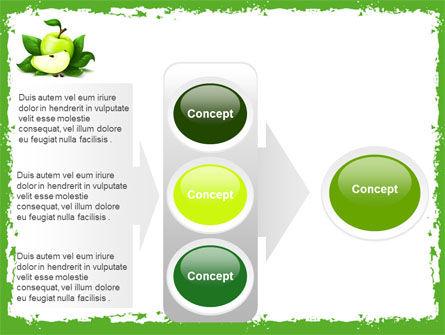 Cut Green Apple PowerPoint Template Slide 11