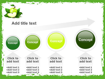 Cut Green Apple PowerPoint Template Slide 13