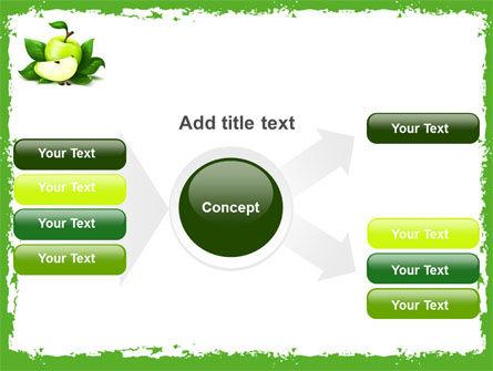 Cut Green Apple PowerPoint Template Slide 14