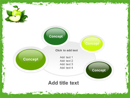 Cut Green Apple PowerPoint Template Slide 16
