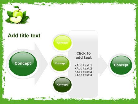 Cut Green Apple PowerPoint Template Slide 17