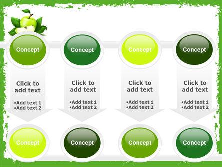 Cut Green Apple PowerPoint Template Slide 18