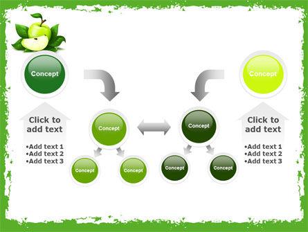 Cut Green Apple PowerPoint Template Slide 19