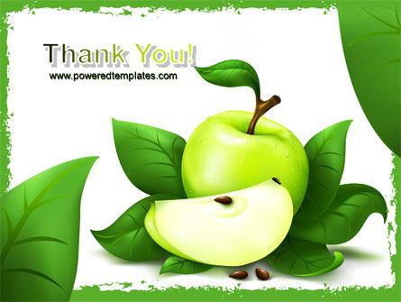 Cut Green Apple PowerPoint Template Slide 20