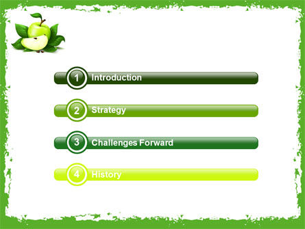 Cut Green Apple PowerPoint Template, Slide 3, 05071, Food & Beverage — PoweredTemplate.com
