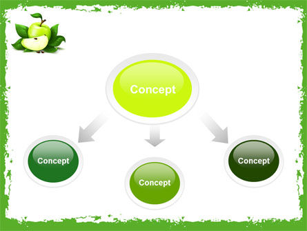 Cut Green Apple PowerPoint Template, Slide 4, 05071, Food & Beverage — PoweredTemplate.com