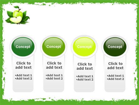 Cut Green Apple PowerPoint Template Slide 5
