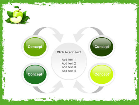 Cut Green Apple PowerPoint Template Slide 6