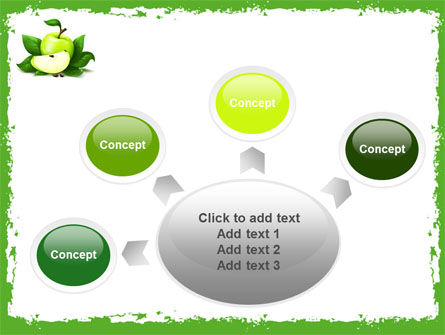Cut Green Apple PowerPoint Template Slide 7