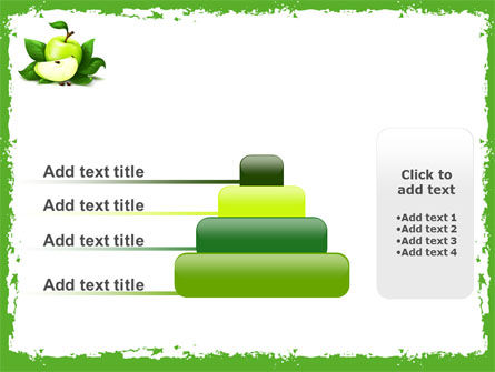 Cut Green Apple PowerPoint Template Slide 8