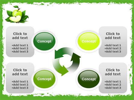 Cut Green Apple PowerPoint Template Slide 9