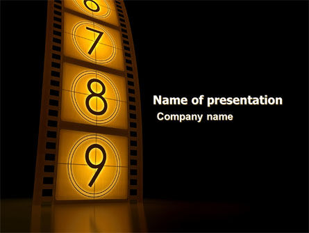 Cinema Strip Powerpoint Template Backgrounds 05073