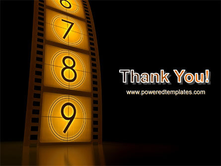 Cinema Strip PowerPoint Template Slide 20
