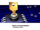 Technology and Science: Data Protection Key PowerPoint Template #05074
