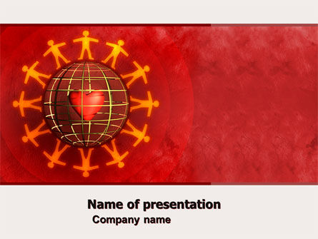 Religious/Spiritual: Love World PowerPoint Template #05075