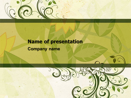 Abstract/Textures: Growing Pattern PowerPoint Template #05079