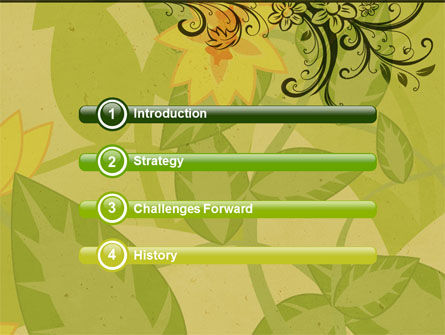 Growing Pattern PowerPoint Template, Slide 3, 05079, Abstract/Textures — PoweredTemplate.com