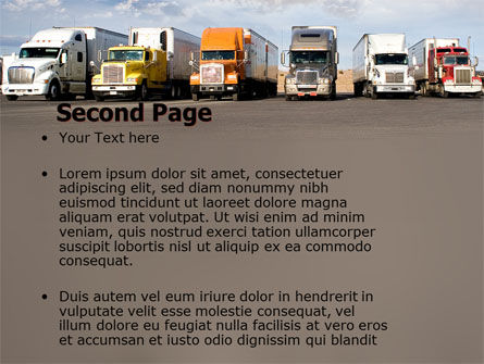 Trucks PowerPoint Template, Slide 2, 05080, Cars and Transportation — PoweredTemplate.com