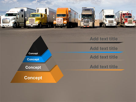 Trucks PowerPoint Template, Slide 4, 05080, Cars and Transportation — PoweredTemplate.com