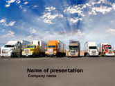 Cars and Transportation: Trucks PowerPoint Template #05080