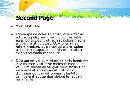 Sunrise Illustration PowerPoint Template Slide 2
