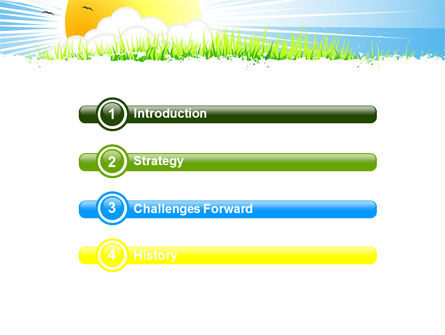 Sunrise Illustration PowerPoint Template, Slide 3, 05081, Nature & Environment — PoweredTemplate.com
