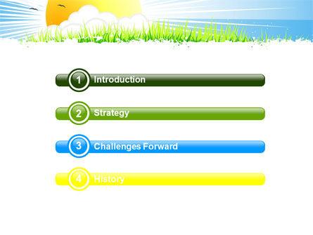Sunrise Illustration PowerPoint Template Slide 3