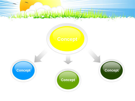 Sunrise Illustration PowerPoint Template, Slide 4, 05081, Nature & Environment — PoweredTemplate.com