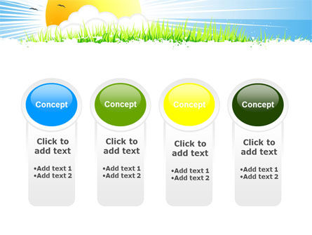 Sunrise Illustration PowerPoint Template Slide 5