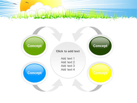 Sunrise Illustration PowerPoint Template Slide 6