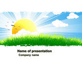 Nature & Environment: Sunrise Illustration PowerPoint Template #05081
