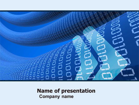 Technology and Science: Data Transfer Wave PowerPoint Template #05082