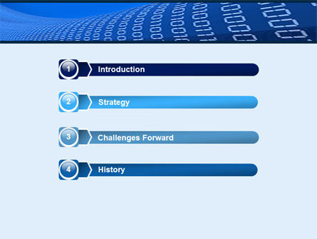 Data Transfer Wave PowerPoint Template, Slide 3, 05082, Technology and Science — PoweredTemplate.com