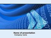 Technology and Science: De Overdracht Van Gegevens Golf PowerPoint Template #05082