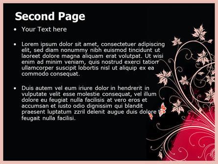 Blooming Pattern PowerPoint Template Slide 2