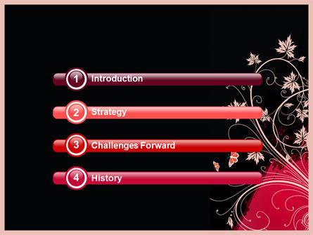 Blooming Pattern PowerPoint Template, Slide 3, 05083, Abstract/Textures — PoweredTemplate.com