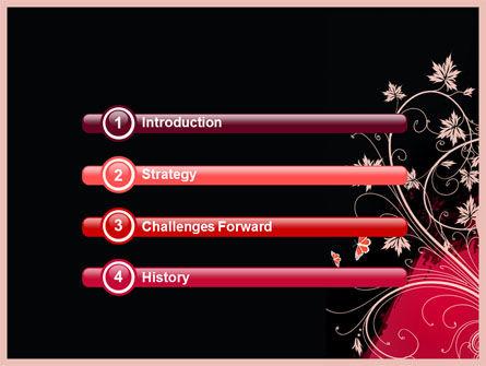 Blooming Pattern PowerPoint Template Slide 3