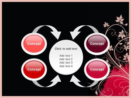 Blooming Pattern PowerPoint Template Slide 6