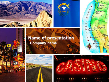 America: Nevada PowerPoint Template #05084